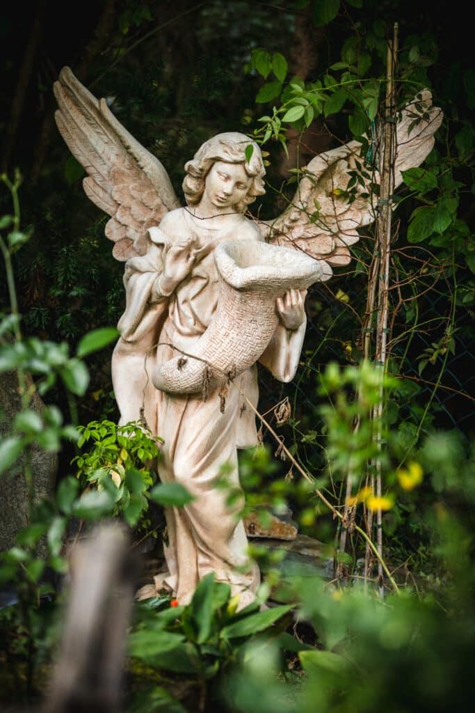 Romantischer Shabby Garten